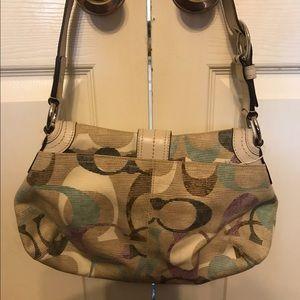 Coach multicolor logo purse/handbag